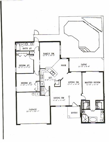 Floor Plan for So Close To It All With A Country Feel